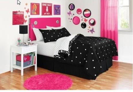 Twin Xl Bed In A Bag Black White Twin Polka Dot Damask