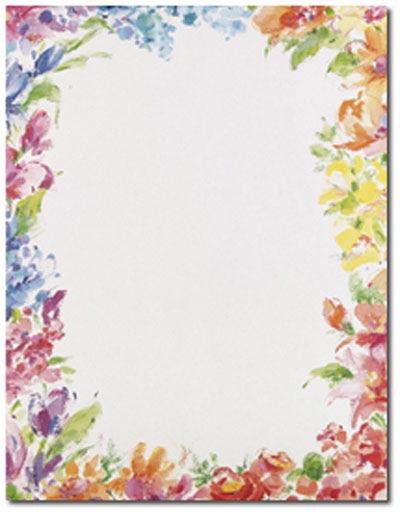 10 Flower Border Design Paper Images Flower Page Border Clip Art