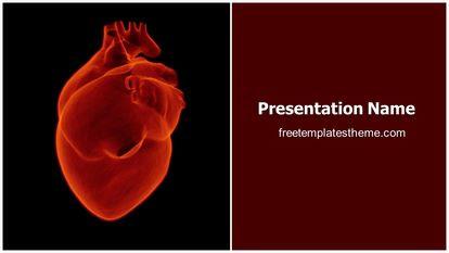 Free Human Heart Powerpoint Template Freetemplatestheme Com