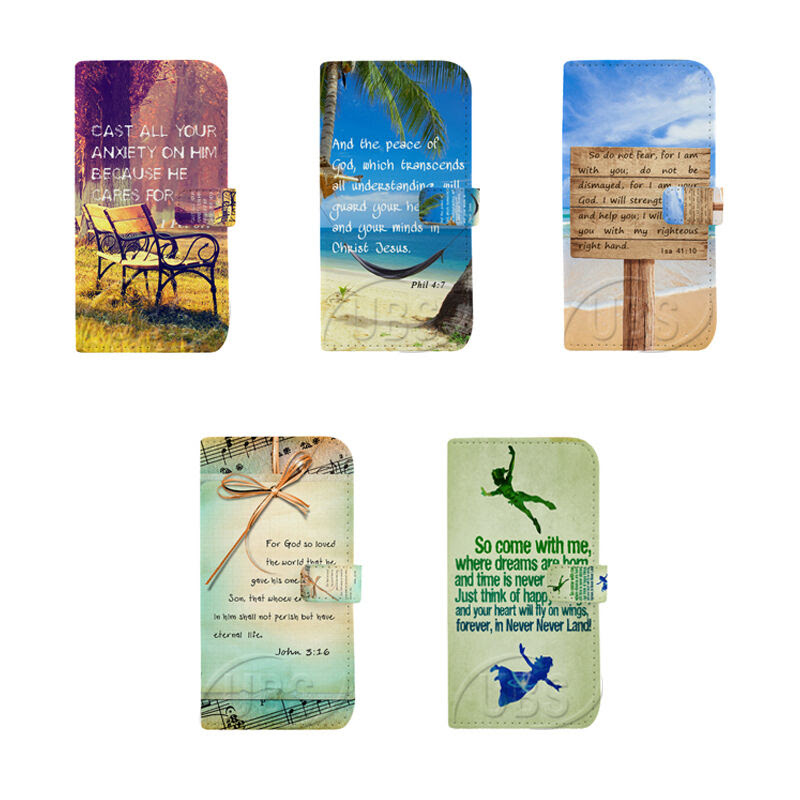 Bible Verse Quotes Wallet Flip PU Leather Case For Samsung S7 S6 iPhone 7Plus eBay