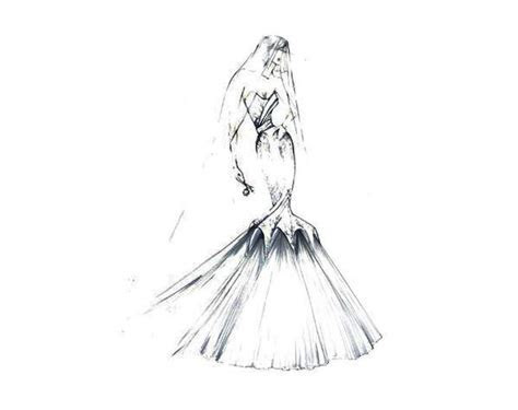 10 Best images about Wedding Gown Sketches on Pinterest