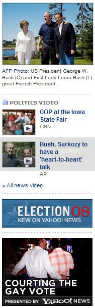 Sarkozy makes Bush Gay for France
