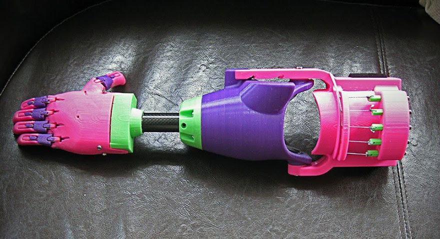 Impresso-3d-prótese de braço-stephen-Davies-enable-isabella-3