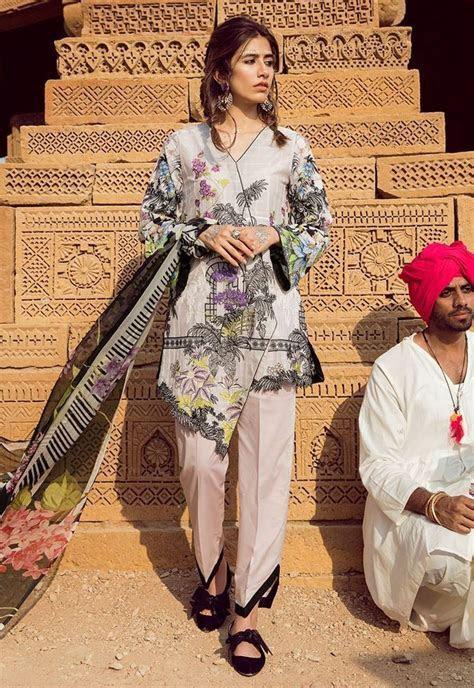 Latest Pakistani Lawn Brands Designer Dresses Collections 2019