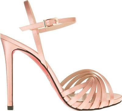 Πέδιλο ψηλό σατέν ροζ MARK MILAN