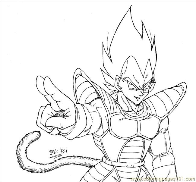 Dragon Ball Z Vegeta Drawing At Getdrawingscom Free For