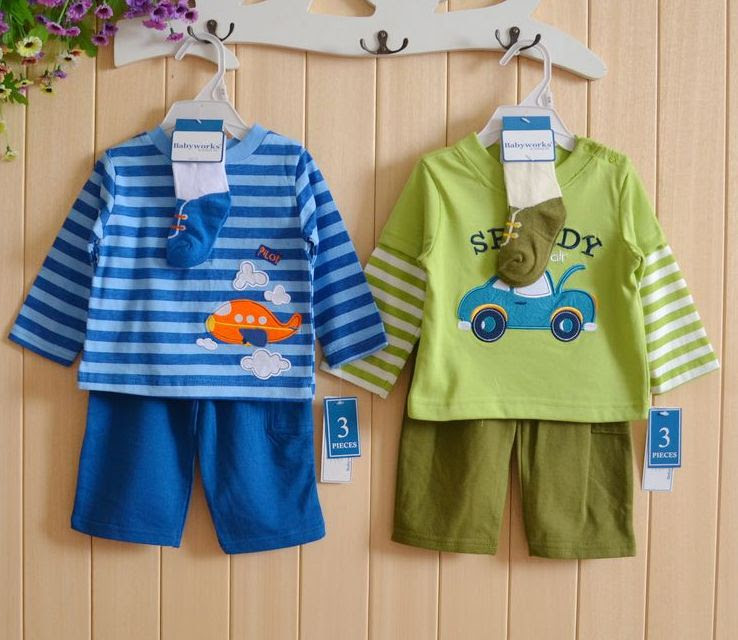 2017 New Arrival Sale Baby Boy Clothing Set Kids Cartoon Clothes for Boys And Girls Cotton Long