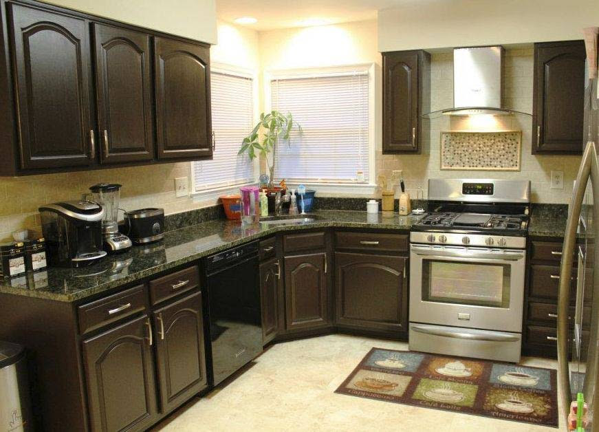 The Designs for Dark Cabinet Kitchen   Home and Cabinet ...