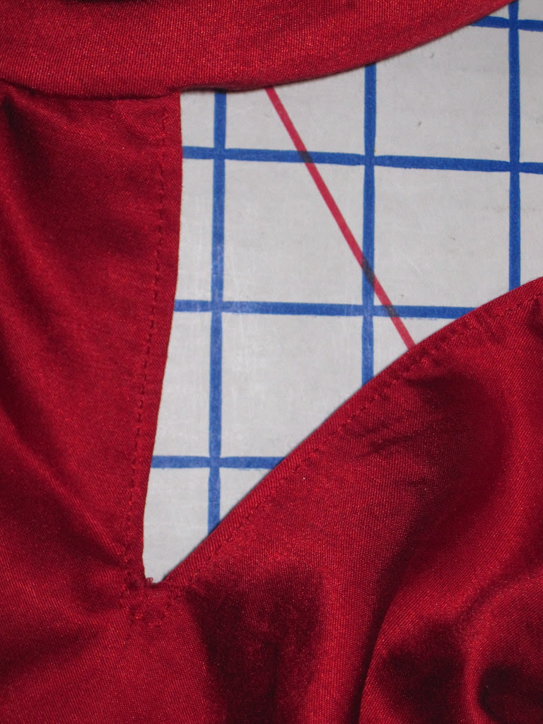 Topstitching at Front Opening