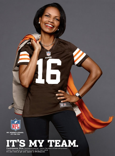Condoleezza Rice Models Cleveland Browns Jersey in NFL Ad  Adweek