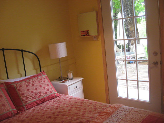 yellow bedroom, new door