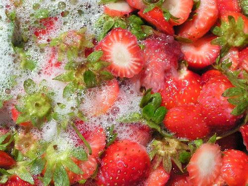 strawberries and water 1