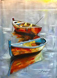 pinterestpinturas de oleo de botes ile ilgili goersel