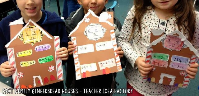 Fact Family Gingerbread Houses!