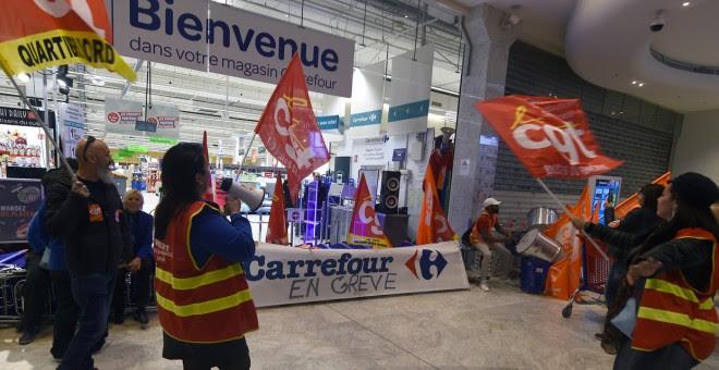 huelga-carrefour-francia
