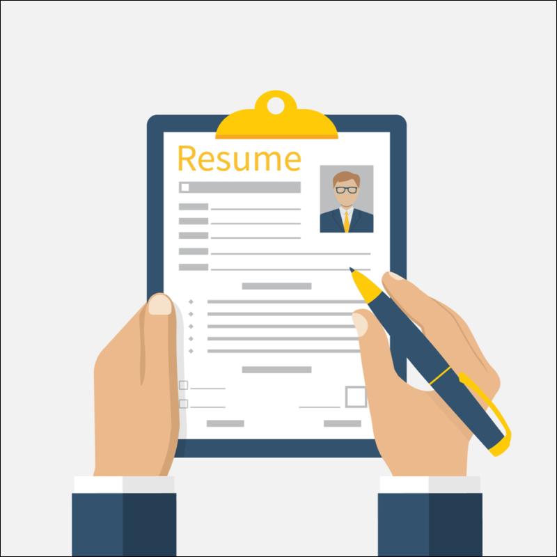 resume cartoon