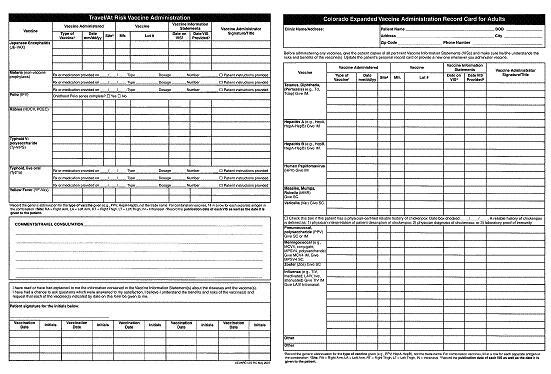 Gentes Donorte Printable Immunization Record Form