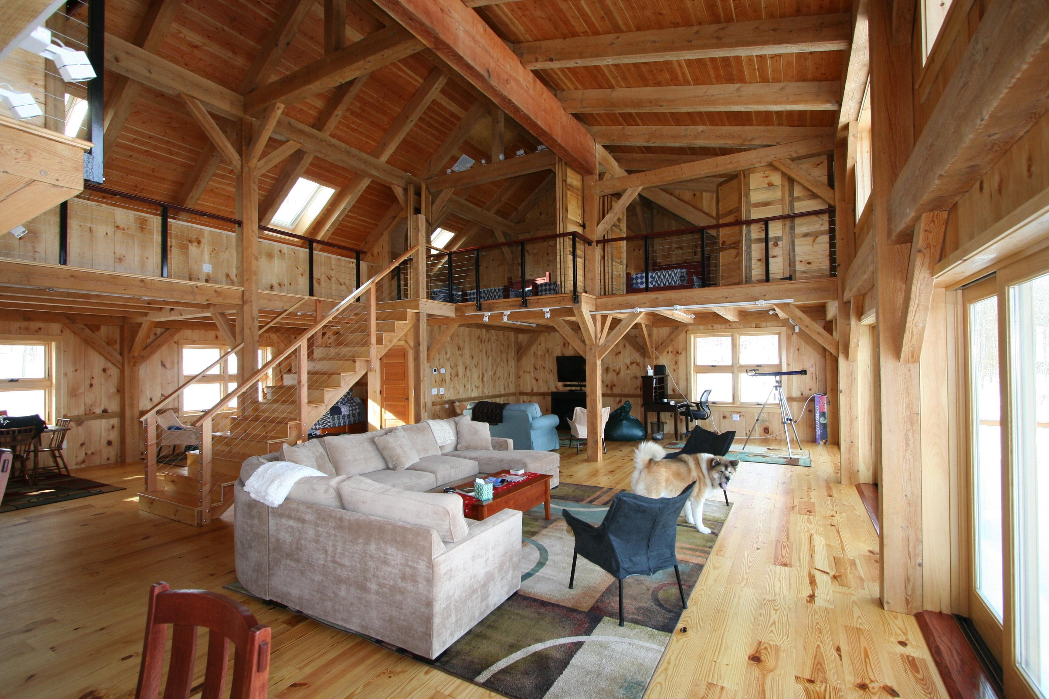 Mortise Tenon Joined Barn Timber Frame