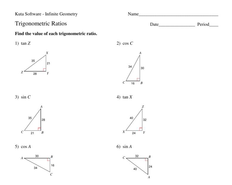 32 Trigonometry Ratios Worksheet Answers   Notutahituq ...