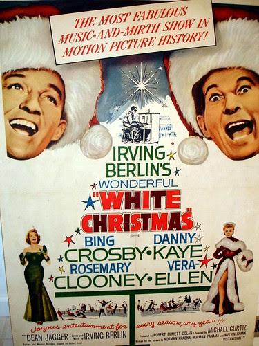 white xmas poster