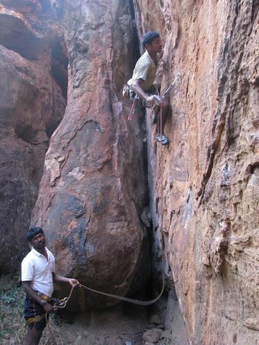 Badami Rock Climbing 6a more