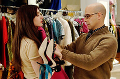 Nigel (Stanley Tucci) begins one of his most difficult tasks: a makeover for newbie, fashion-challenged assistant Andy Sachs (Anne Hathaway).