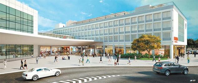 Projeto com shopping, hotel e centro de convenções que será construído ao lado do aeroporto Santos Dumont, no Rio