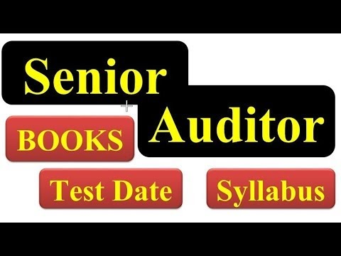 Senior Auditor Jobs 2019 || Syllabus || Past Papers | Pakmcq Official
