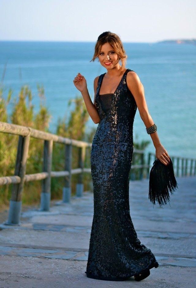 Blue evening dresses pinterest