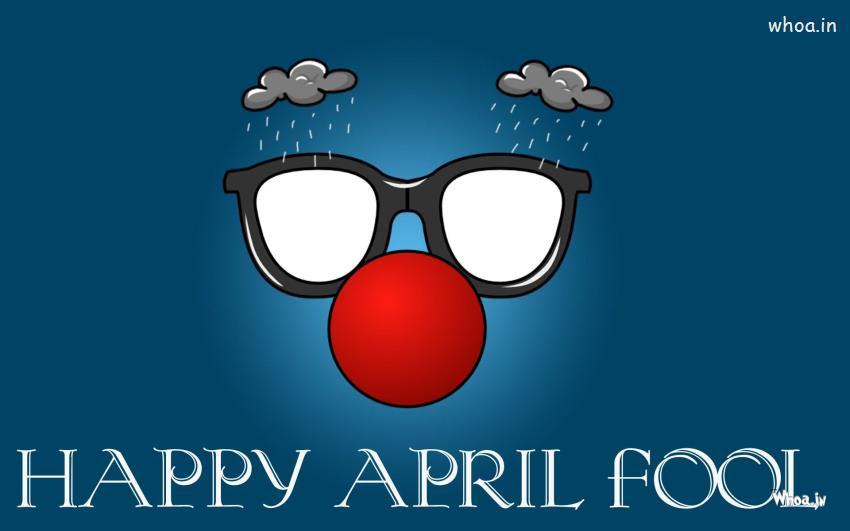 Happy April Fool With Funny Face Closeup HD Wallpaper