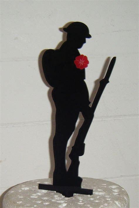 poppy soldier Cake topper