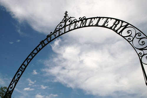 oak grove cemetery iron arch