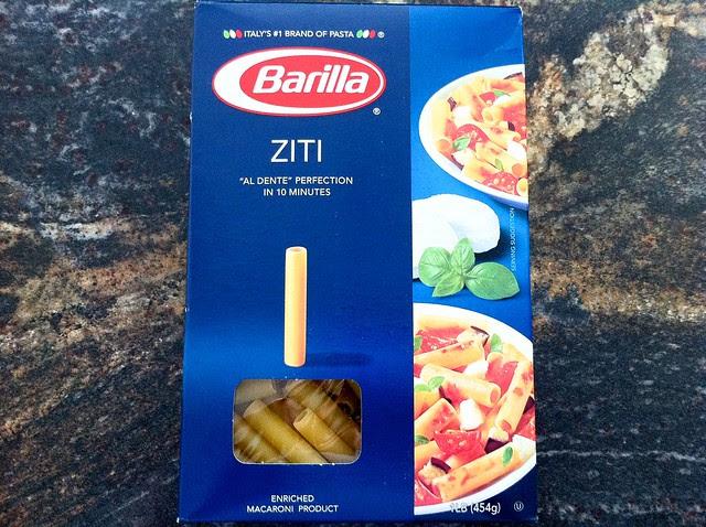 Barilla Ziti Pasta