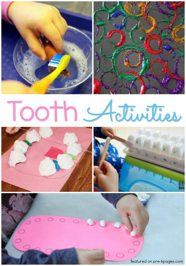 Tooth Activities for Preschool Kids