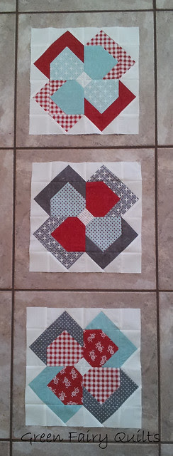 Flower patch quilt along