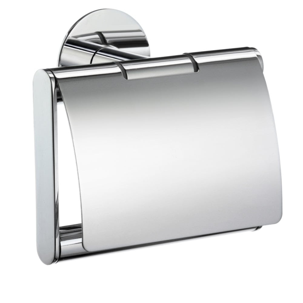 Time Toilet Roll Holder With Cover Yk3414 Polished Chrome