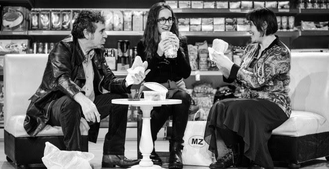 Miguel de Lira, Cristina Iglesias y Patricia de Lorenzo.