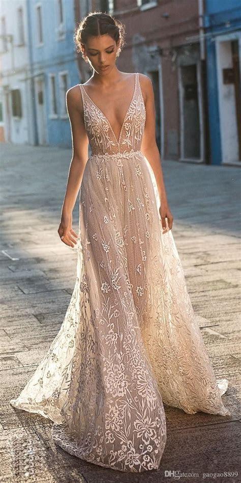 Gali Karten 2019 A Line Boho Wedding Dresses Bridal Gowns
