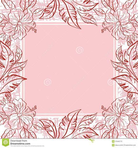 Background, Frame Of Flowers And Leaves Stock Photos