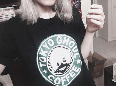 shirt tokyo ghoul starbucks coffee tokyo ghoul