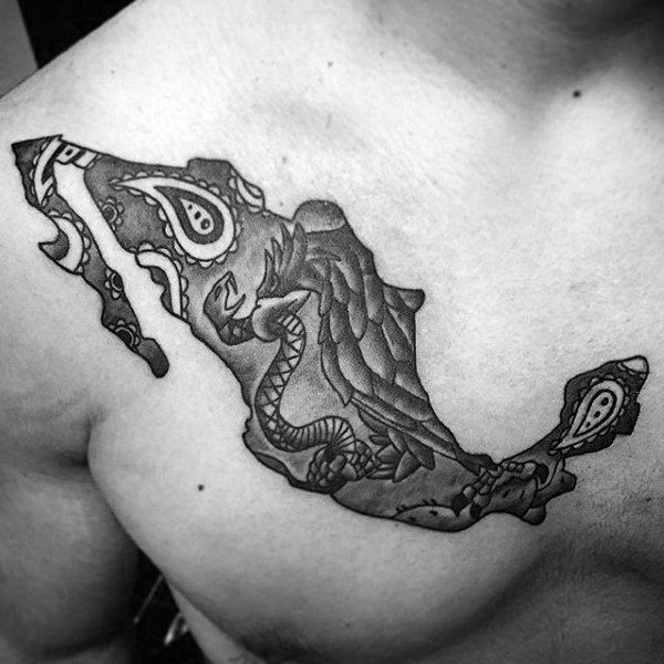 50 Mexican Eagle Tattoo Designs For Men Manly Ink Ideas