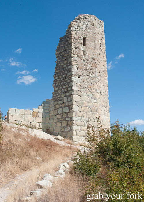 roman tower ruins ancient city archaeological site perperikon perpericon bulgaria