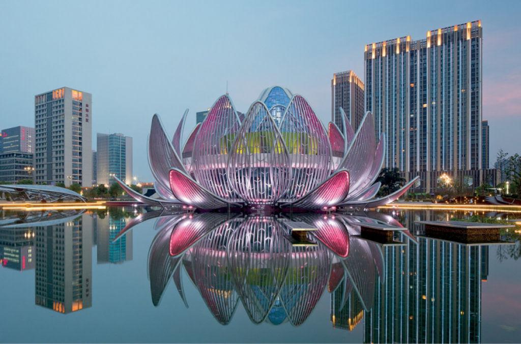 O edifício em forma de flor lótus em Wujin, na China 01