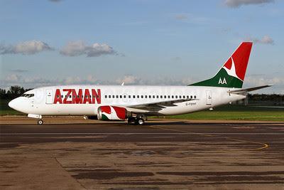 Azman Air-AA Boeing 737-36N G-TOYF (5N-YSM) (msn 28557) SEN (Keith Burton). Image: 920878.