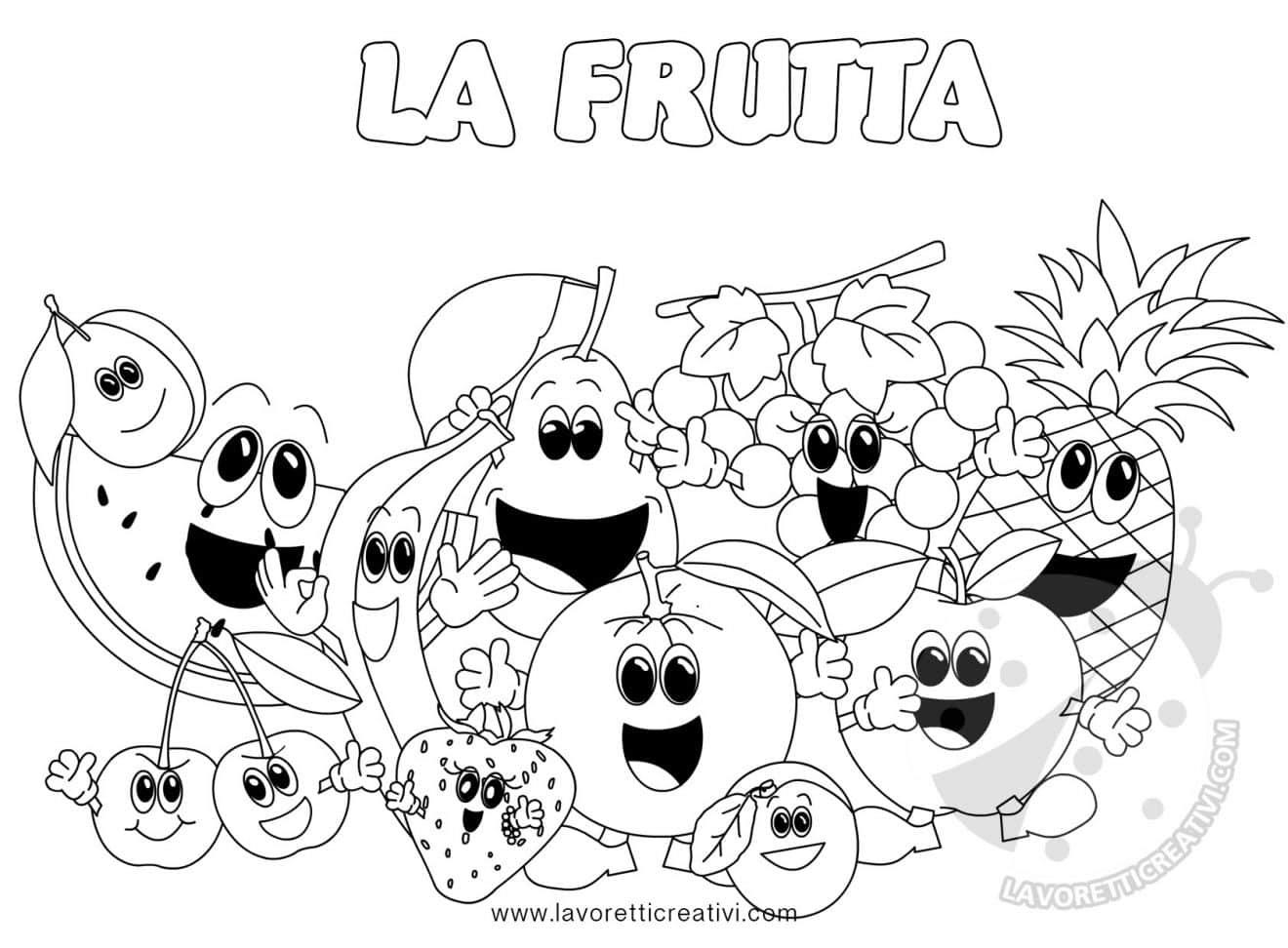 Lusso Canestra Di Frutta Disegno Da Colorare Migliori Pagine Da