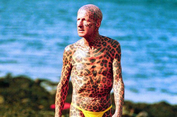 Tom Leppard LEOPARD MAN OF SKYE SCOTLAND, BRITAIN - 1993