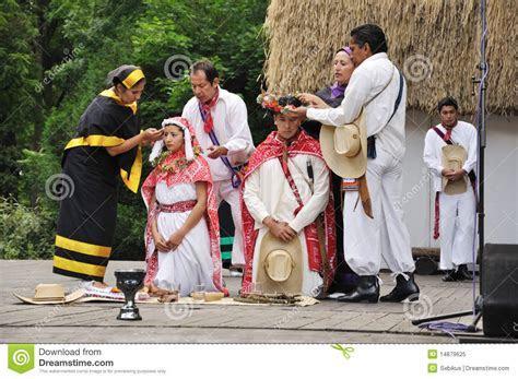 Wedding Ceremony Of Mexico. Bride And Groom. Editorial
