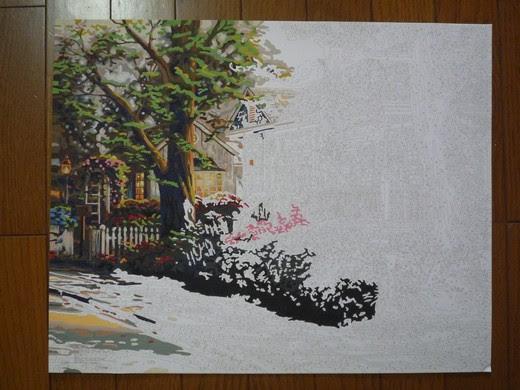 クロスステッチ日記 Pbnアクリル絵の具塗り絵 Hometown Pride10