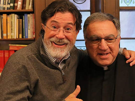 Stephen Colbert and Rev. Thomas Rosica