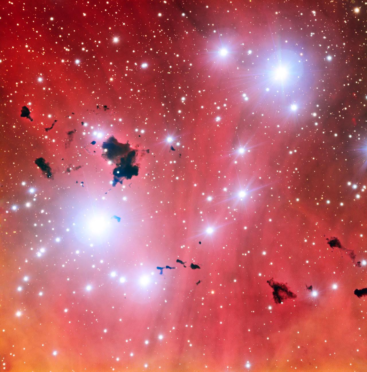 Một cái nhìn hoàn toàn mới về vườn ươm sao IC 2944. Credit : ESO.